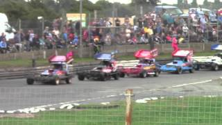 Brisca F1 Stock Car Racing Skegness 9-8-14 Semi Harrison Speak Sworder Hines