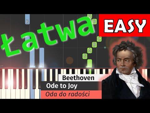 🎹 Oda do radości (L. van Beethoven, Ode to joy) - Piano Tutorial (łatwa wersja) (EASY) 🎹