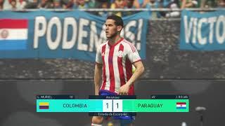 Colombia vs Paraguay Eliminatorias Russia 2018 PES 18 PS4 Pro.