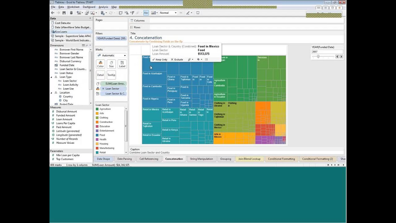 How To Excel With Tableau Youtube