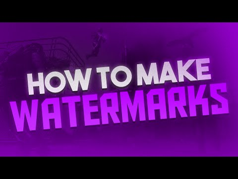 How to Make a Watermark for YouTube Videos! Watermark Tutorial! (2017)