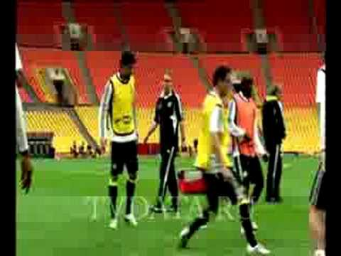 Chelsea FC training soccer, rehersals in Moscow, football filmed by TVDATA MEDIA