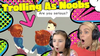 We Troll As Noobs In Roblox Adopt Me! New Sopo Squad Gaming!