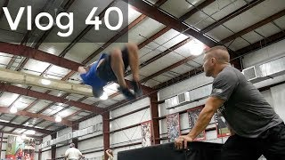 Vlog 40 - How To Backflip At FOURTY?!