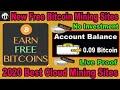 New Free Bitcoin Mining Website 2020  Free Cloud Mining Site  Aregero.com