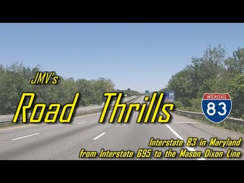 Interstate 83 in Maryland - from Interstate 695 to the Mason Dixon Line