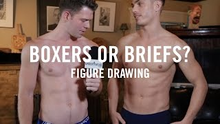 Repeat youtube video Boxers or Briefs: Naked Male Models Life Drawing at Tom of Finland