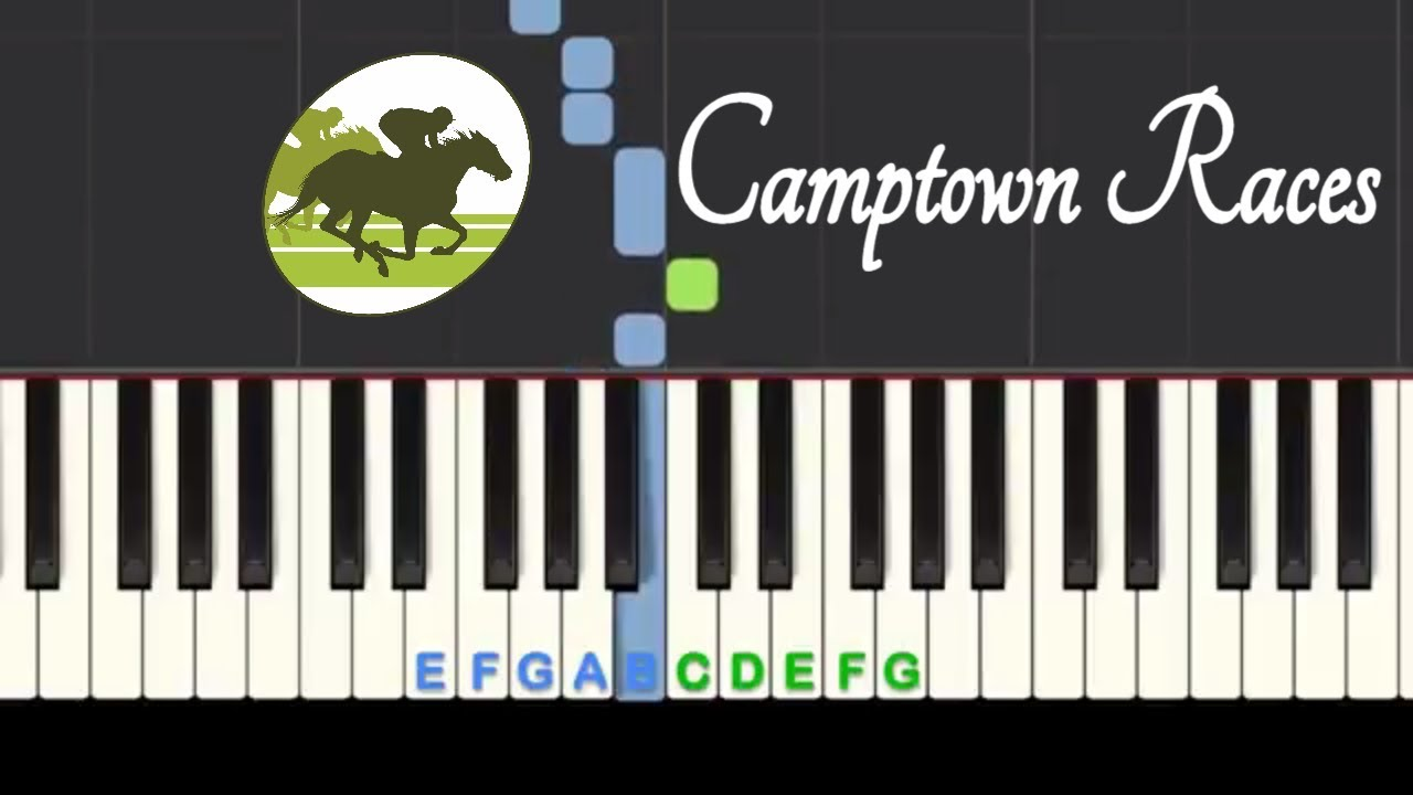 Camptown Races: easy piano tutorial with free sheet music