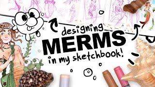 MERMAID, MERMAN, MERMAY?! | drawing a character inspired by seashells!