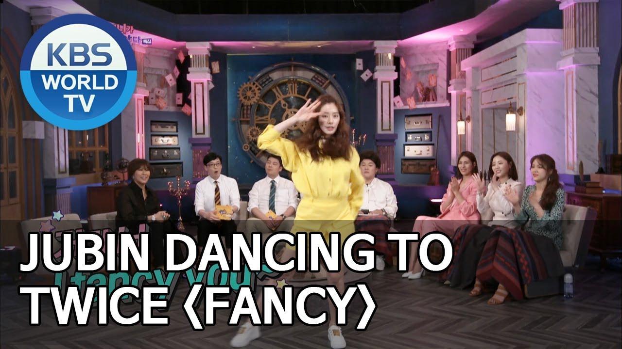 Jubin dancing to TWICE