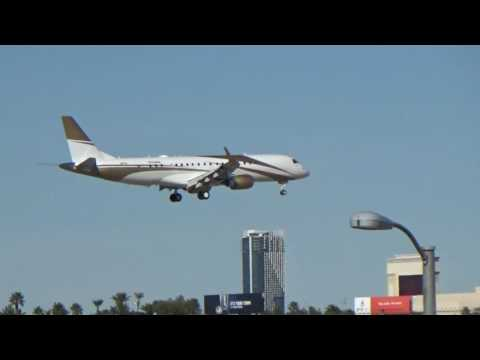 *New Plane* MGM Mirage Aviation Embraer Lineage 1000(E190)(N783MM) arrives at Las Vegas!