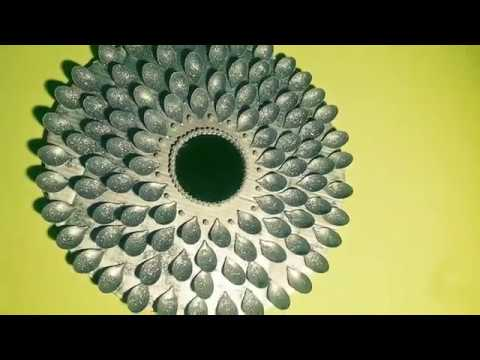 DIY; How to recycle plastic spoons in to a sun like mirror ;Quick easy glan wall mirror dercor ;