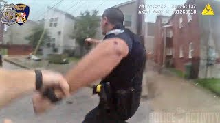 Bodycam Captures Fatal Police Shootout in Baltimore, Maryland ⚠(Volume Warning)