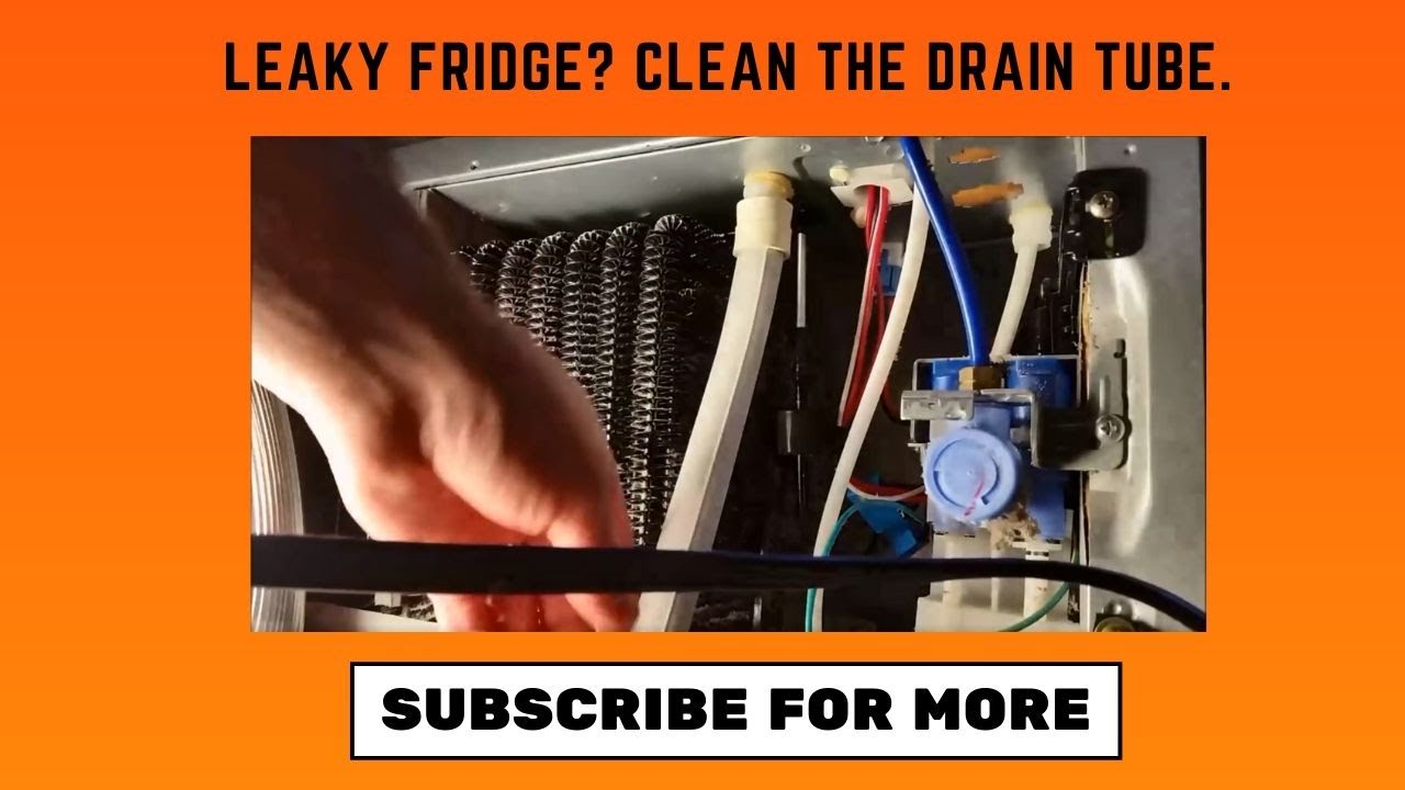 Repairing water leak inside fridge: Freezing drain vs  clogged drain line