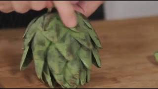 Jacques Pepin's Complete Techฑiques Vegetables 09 Prepping and Cooking Artichokes