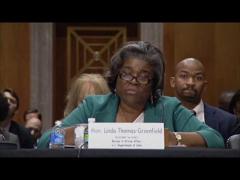 Assistant Secretary Thomas-Greenfield on the Situation in Burundi