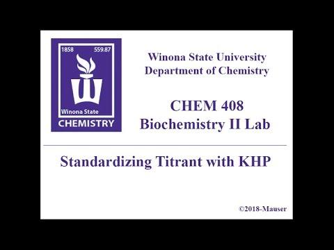 CHEM 408 - Standardizing Titrant With KHP