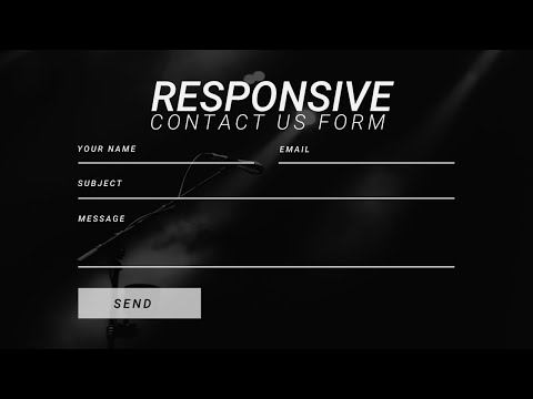 Responsive Contact Us Form Using HTML5 And CSS3