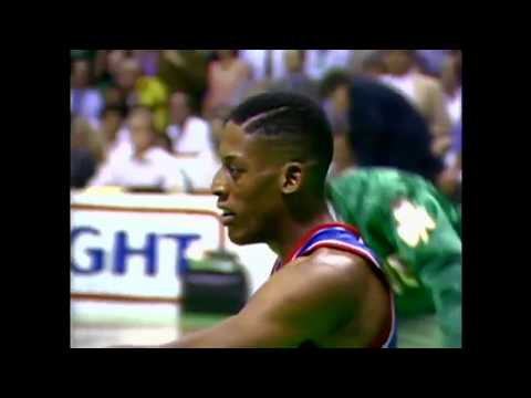 Rookie Dennis Rodman Hits All Seven Shots in Playoff Game vs. Celtics (1987)