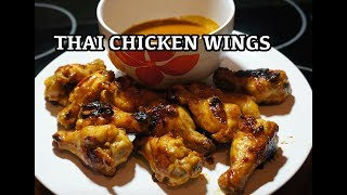 Thai Spicy Chicken Wings Recipe - Sticky Wings - BBQ or Skillet