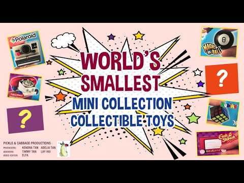 Blind bag unboxing of the World's Smallest Classic Mini Collectible Toys.