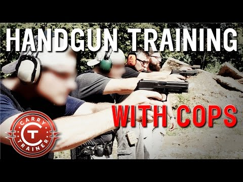 Handgun Training with Cops | Drills and Tips on the Range for Pistol Shooting (1080p)