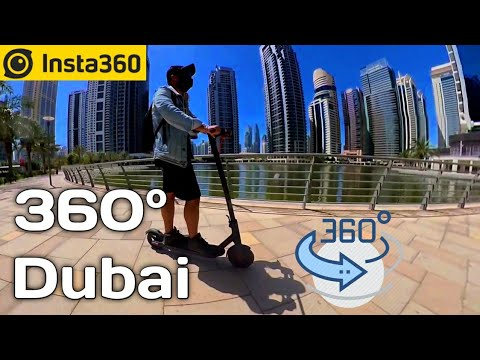 Jumeirah Lake Towers Dubai in 360° | Mi Electric Scooter | Street 360° view | Insta 360 One X