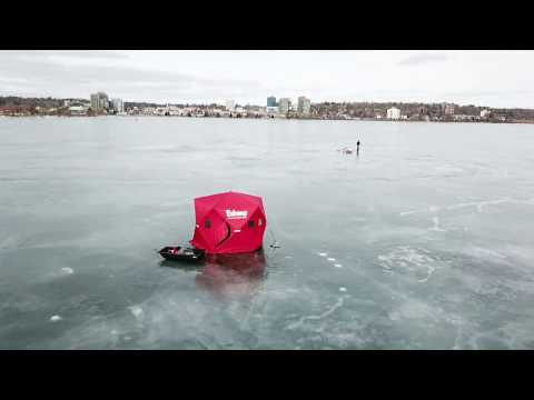 HIGH Flying friday....Buzzing the Ice fishers on the Barrie water front