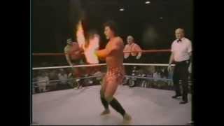 Rusty Brooks, Steve Lombardi & Mr.X vs. Ricky Steamboat, King Tonga & Sivi Afi_Championship 07-86
