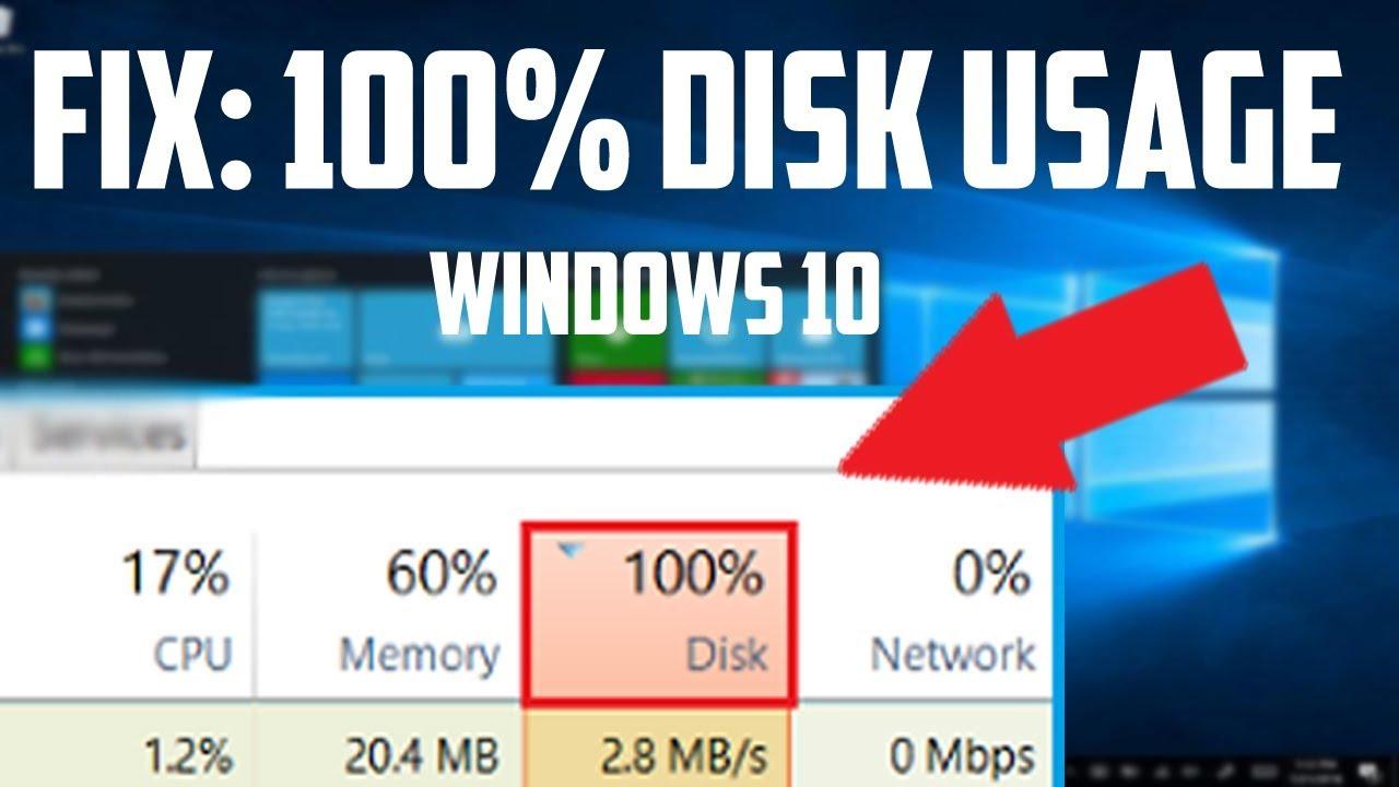 windows update 100 disk usage