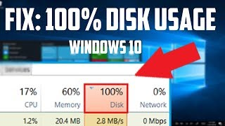 How To Fix 100% Disk Usage on Windows 10