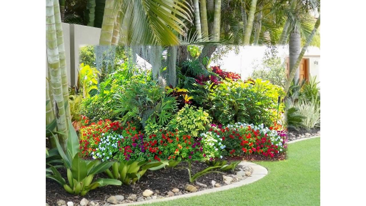 Small tropical garden ideas youtube for Small patio plant ideas