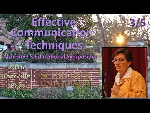 Kerrville Alzheimer's Summit | Communicating with the Demented (2016)