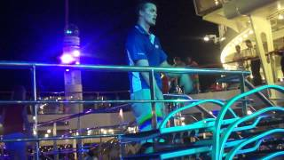 Cute Carnival Cruise Staff White Guy Doing The Wobble