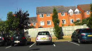 Driving On George Street, Tallow Hill & Newtown Road, Worcester, Worcestershire, UK 26th July 2013