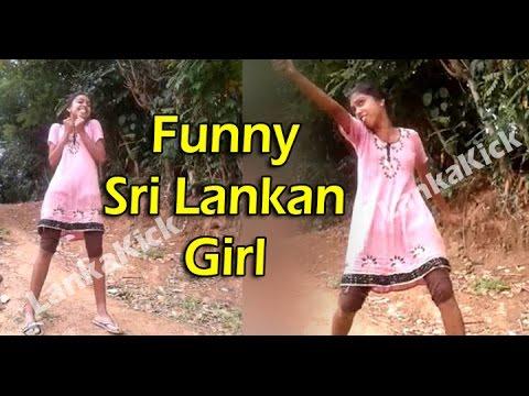 Funny Sri Lankan Girl Singing