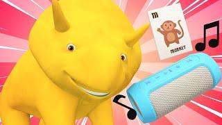 Lerne mit Dino - Lerne Tiergeräusche mit Dino - Dino dem Dinosaurier 👶 Lehrreiche Cartoon
