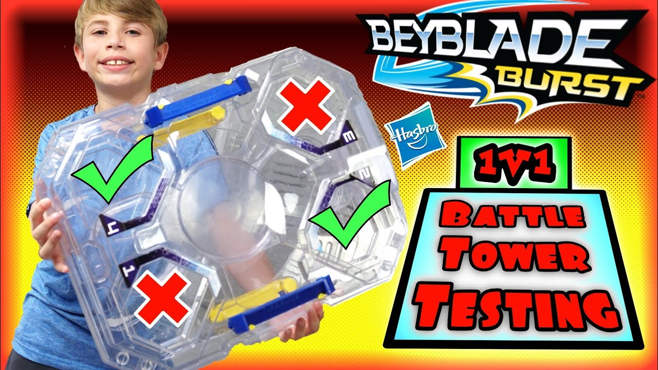 Let's Test 1on1 Battles in the Beyblade Burst Battle Tower Stadium by Hasbro