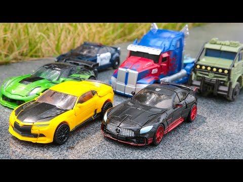 Transformers 5 TLK Optimus Prime Bumblebee Drift Hound Barricade & 4 AOE Crosshairs  Car Robot Toys
