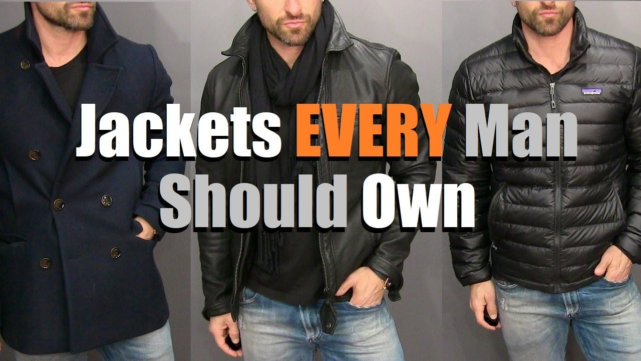 7ed61a98d The ONLY 3 Jackets A Guy Needs In His Wardrobe! (Men's Style Essentials)