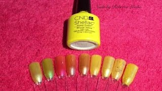 CND Shellac Bicycle Yellow Combinations