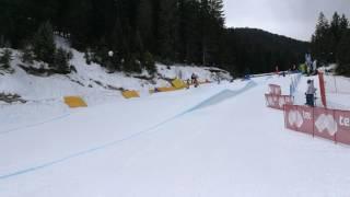 Стартът на Александра Жекова в Банско(Стартът в първа серия от състезанието по сноуборд кросинг на Александра Жекова (със син потник) в Банско...., 2017-02-04T10:08:44.000Z)