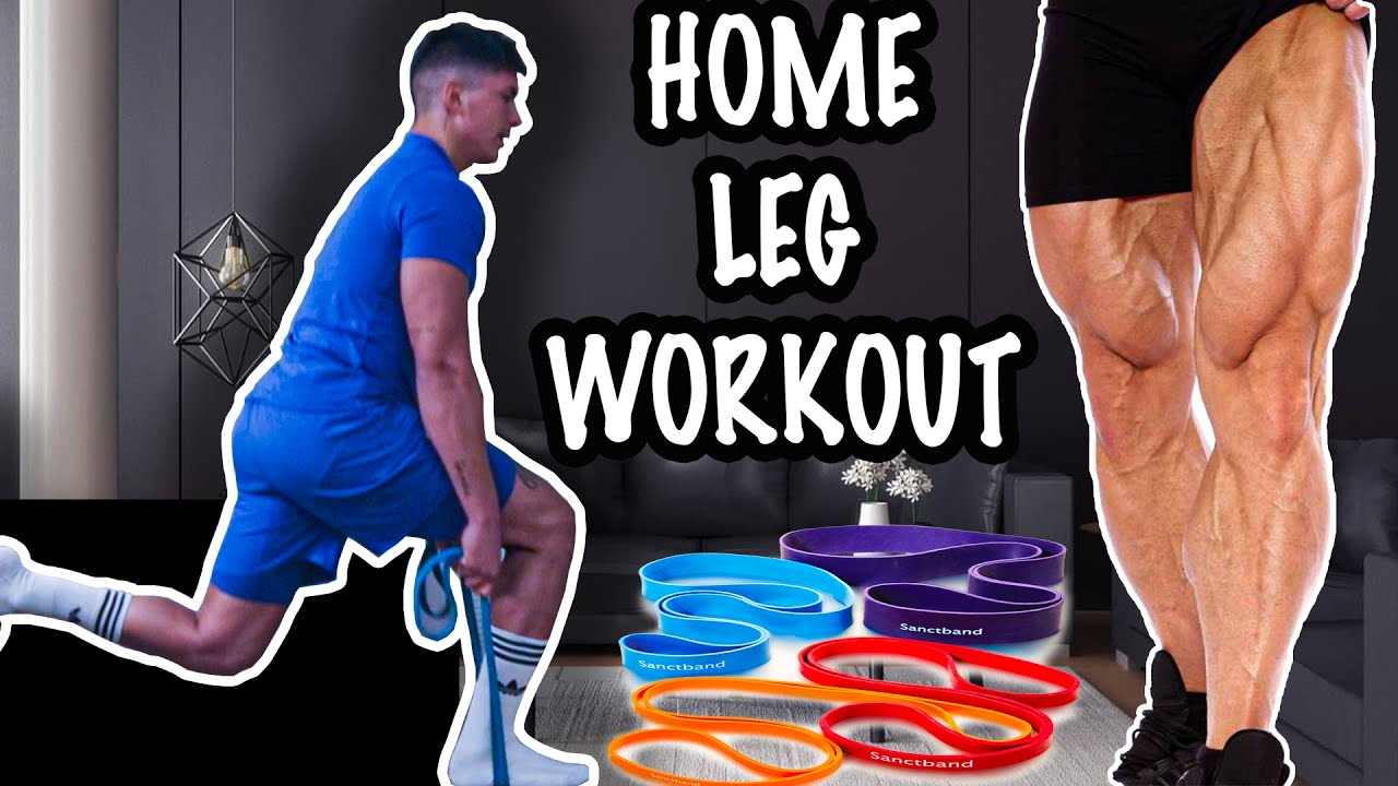 HOME LEG WORKOUT ROUTINE - ONLY RESISTANCE BAND - YouTube