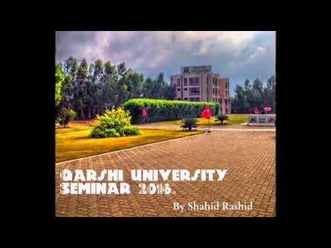 Qarshi university Seminar lecture by Shahid Rashid ( Naiki Kia Hai )