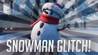 *NEW* Fortnite ☃️ Snowman Outfit in Fortnite! - How To Shoot + Build as *SNOWMAN* ☃️ Latest Patch