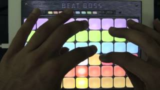Dj and electronic music sampler app performances