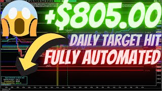 +$805 daily target hit in the NASDAQ Fully Automated