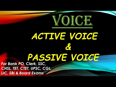 Voice    Active & Passive Voice    By Girijesh Kumar Mall    For Competitive Exams & Boards   