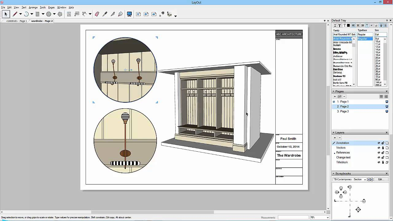 Sketchup To Layout 18 Clip Masks And Scrap Book Youtube