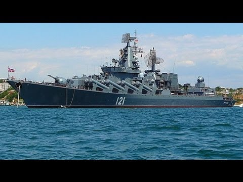 "Russian DESTROYER ""121 MOSKVA"" enters Mediterranean with ..."